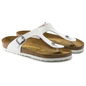 Birkenstock Gizeh White Thong Flip Flop Sandals